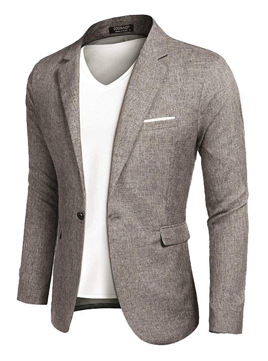Light-grey sport casual jacket by Coofandy