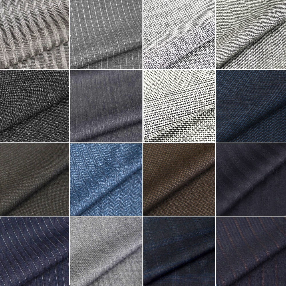 Different suit fabrics and materials
