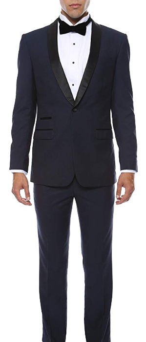 Slim fit shawl lapel tuxedo by Ferrecci