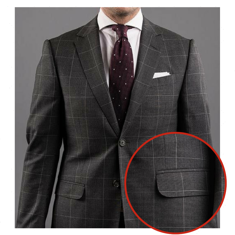 Flap pocket suit style