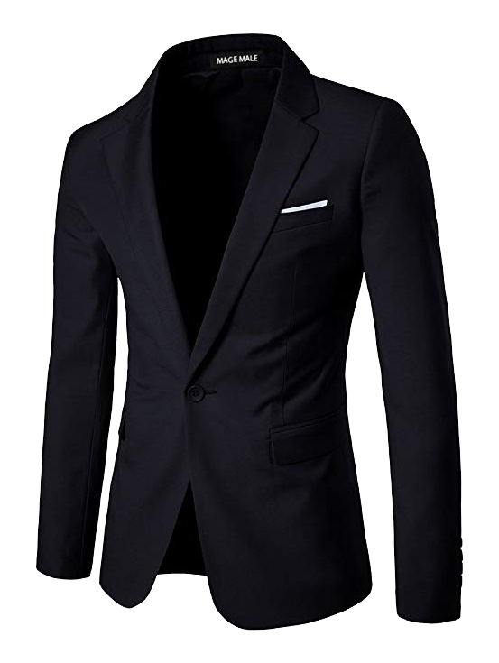 Slim fit black blazer by Mage Male