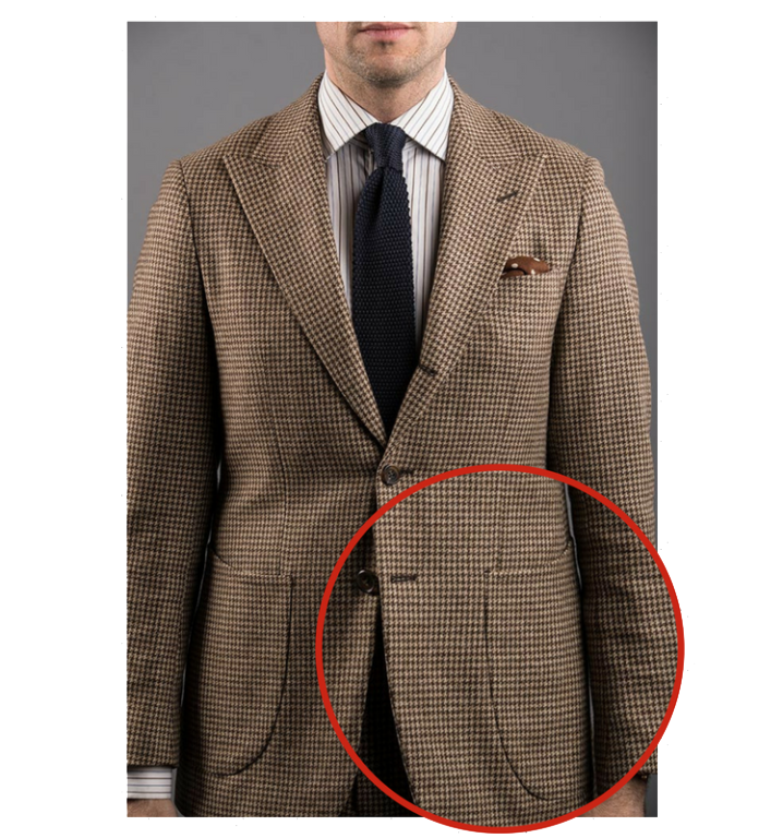 Patch pocket suit style