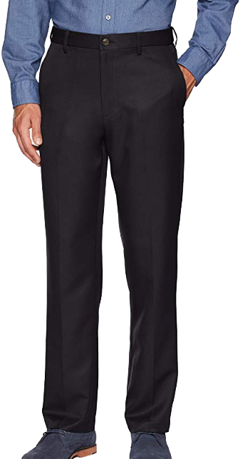 Classic-fit black dress pants by Amazon Essentials