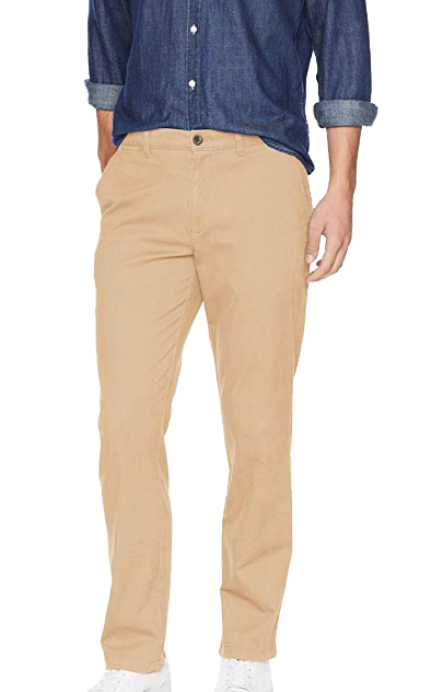 Dark khaki casual pants by Amazon Essentials