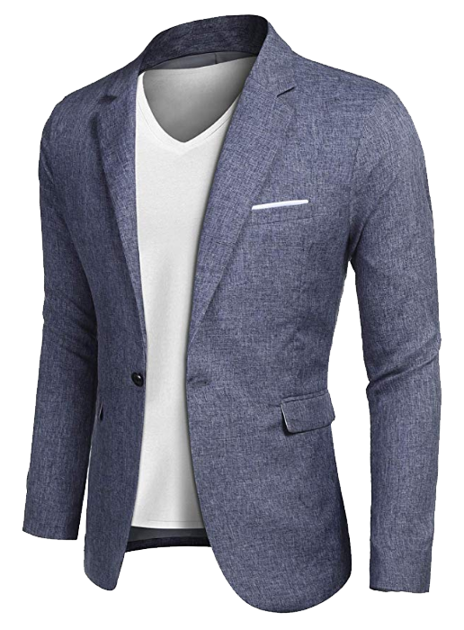 Casual blue blazer by Coofandy