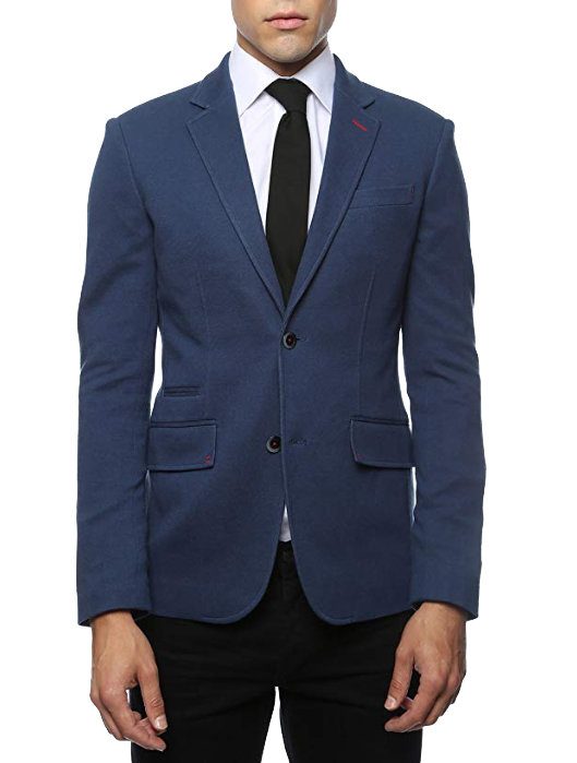 Slim fit bussiness casual navy blazer by Ferrecci