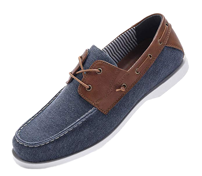 Blue/Brown boat shoes by Golaiman