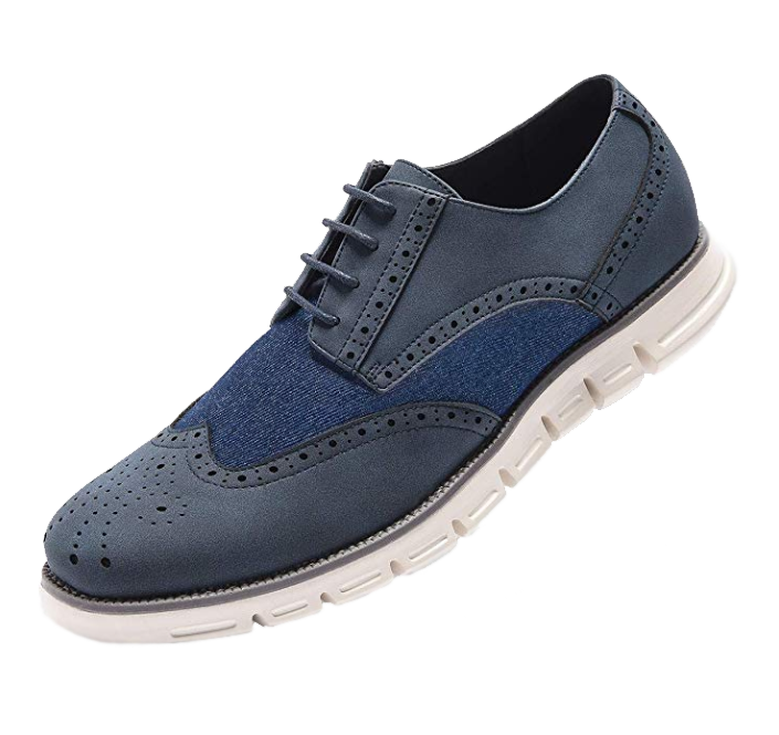 Blue oxford shoes by Golaiman
