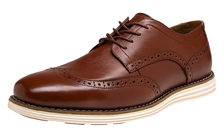 Casual oxblood dress shoes by Jousen