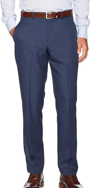 Modern-fit indigo dress pants by Perry Ellis