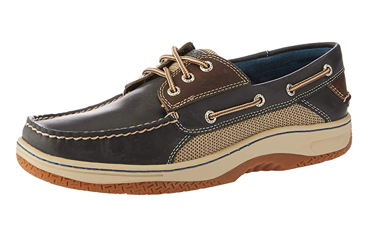 Navy/brown casual shoes by Sparry