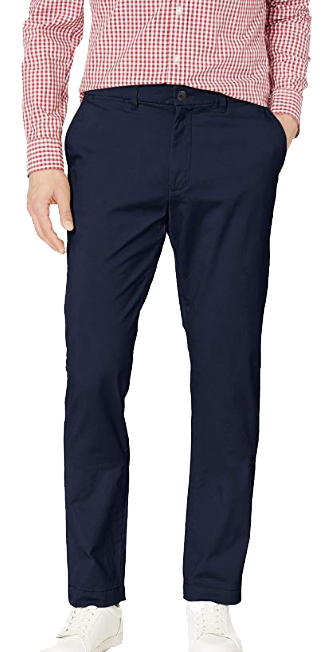 Slim-fit navy chino pants by Tommy Hilfiger