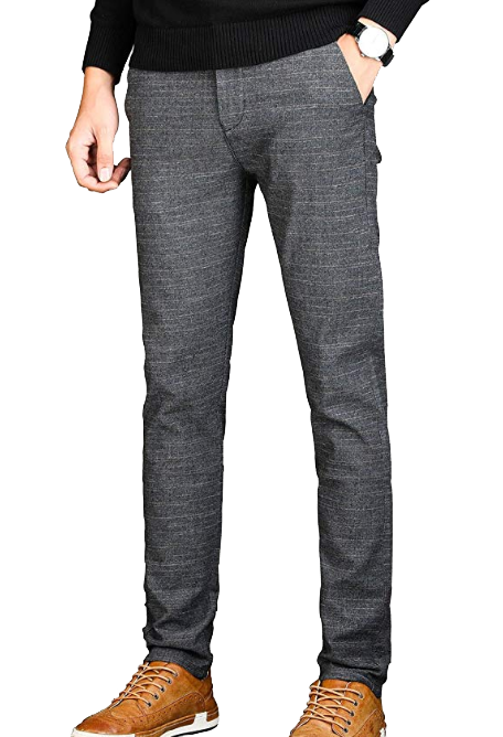 Charcoal slim fit dress pants by Veggors