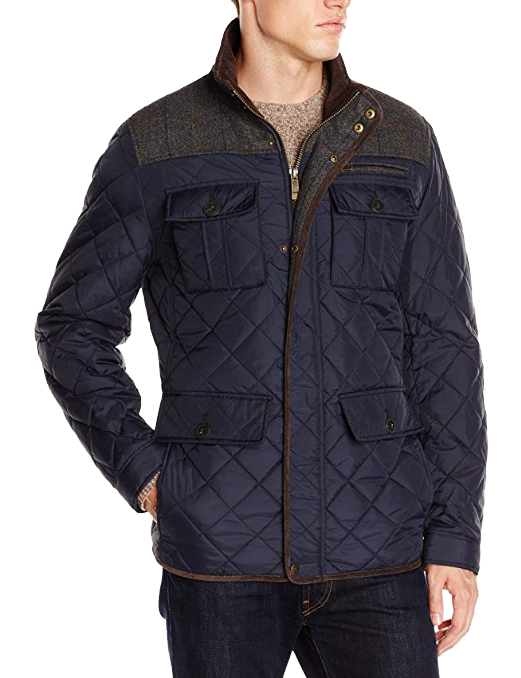 Navy/grey quilted jacket by Vince Camuto