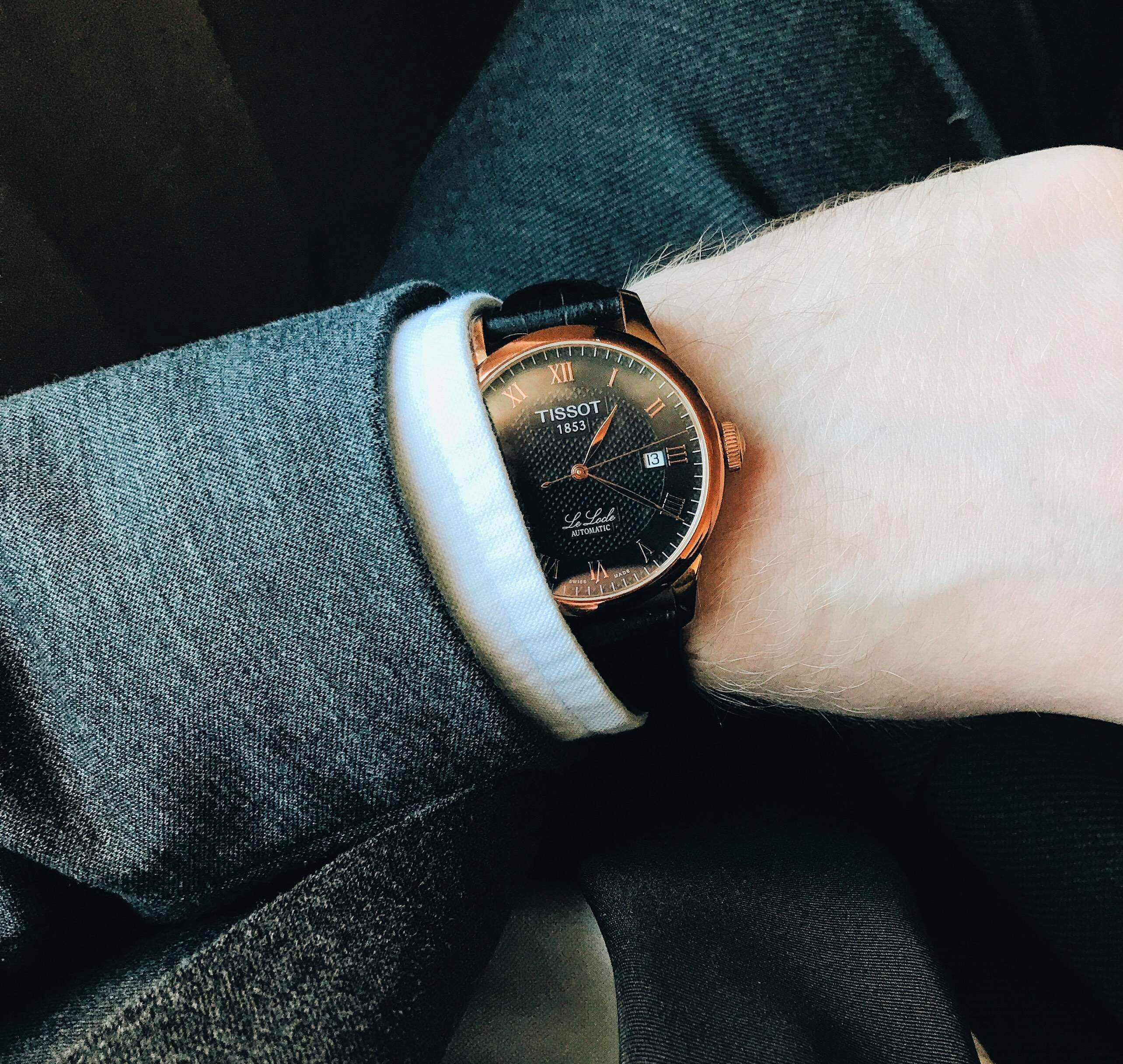 Chrono watch with shirt and suit