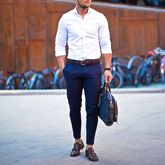 White-collar business casual attire