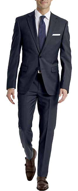 Navy stretch slim fit suit by Calvin Klein