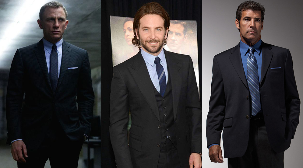 Black suit & blue shirt color combinations