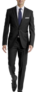 Stretch slim fit black suit by Calvin Klein