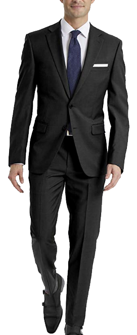 Stretch slim-fit black suit by Calvin Klein