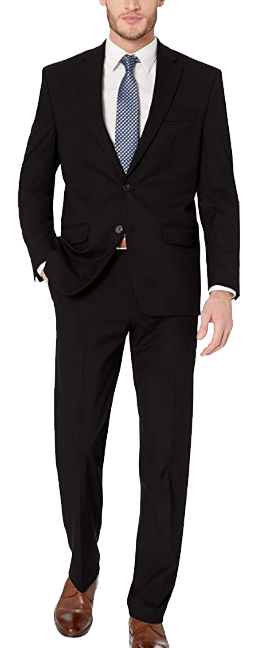 Classic-fit black suit by CHAPS