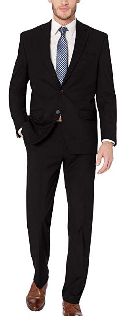 Classic-fit black suit by CHAPS