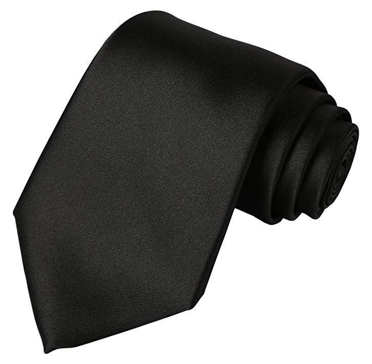 Solid black tie by Kissties