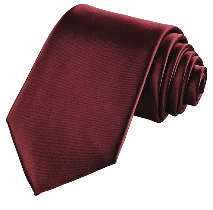 Solid burgundy tie by Kissties