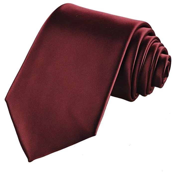 Solid burgundy tie by Kissties