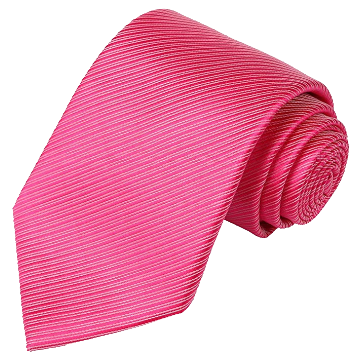 Striped dark pink tie by Kissties