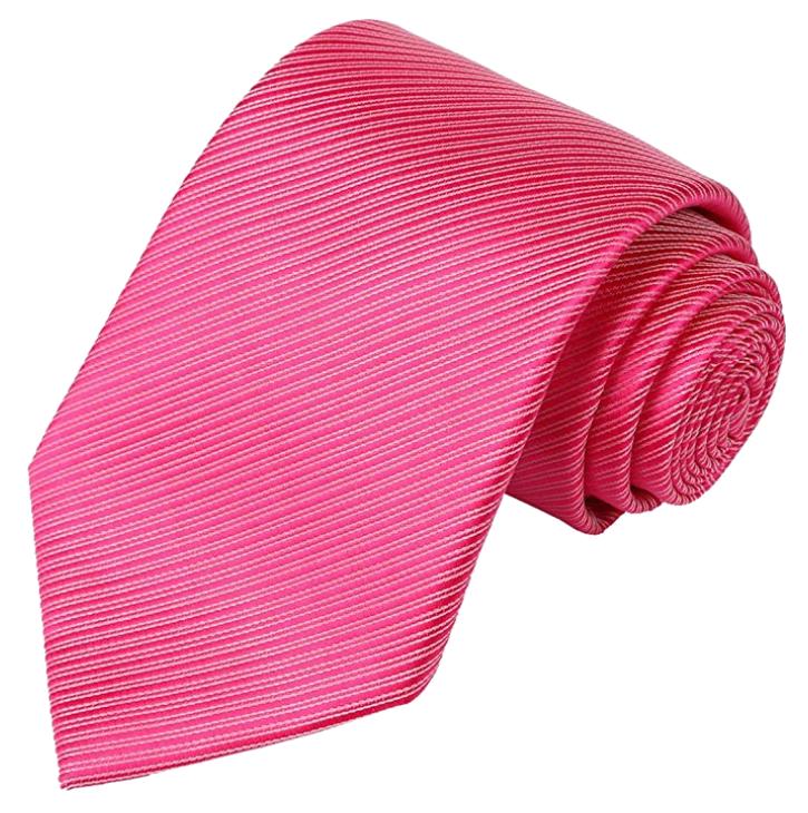 Striped dark pink tie by Kissties