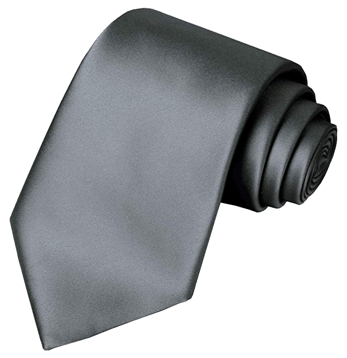Solid grey tie Kissties