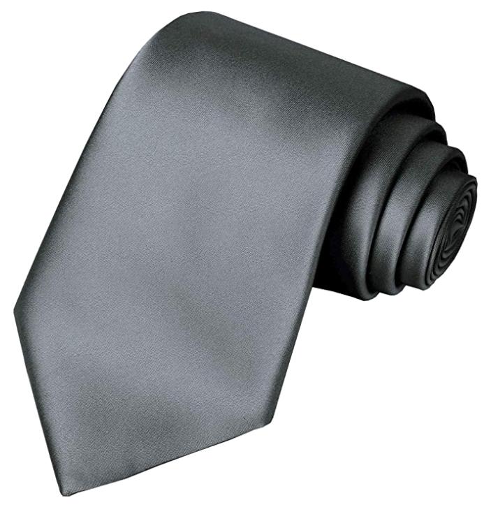 Solid grey tie Kissties