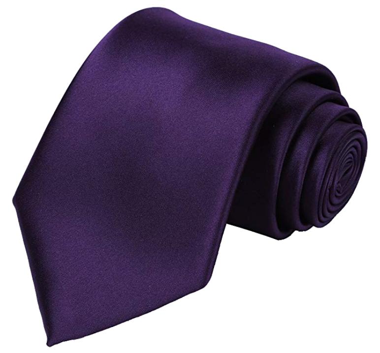 Solid purple tie by Kissties