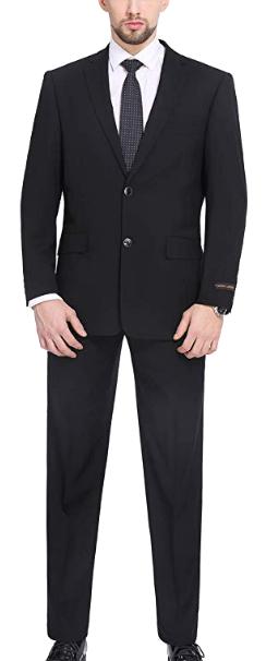 Classic-fit black suit by P&L