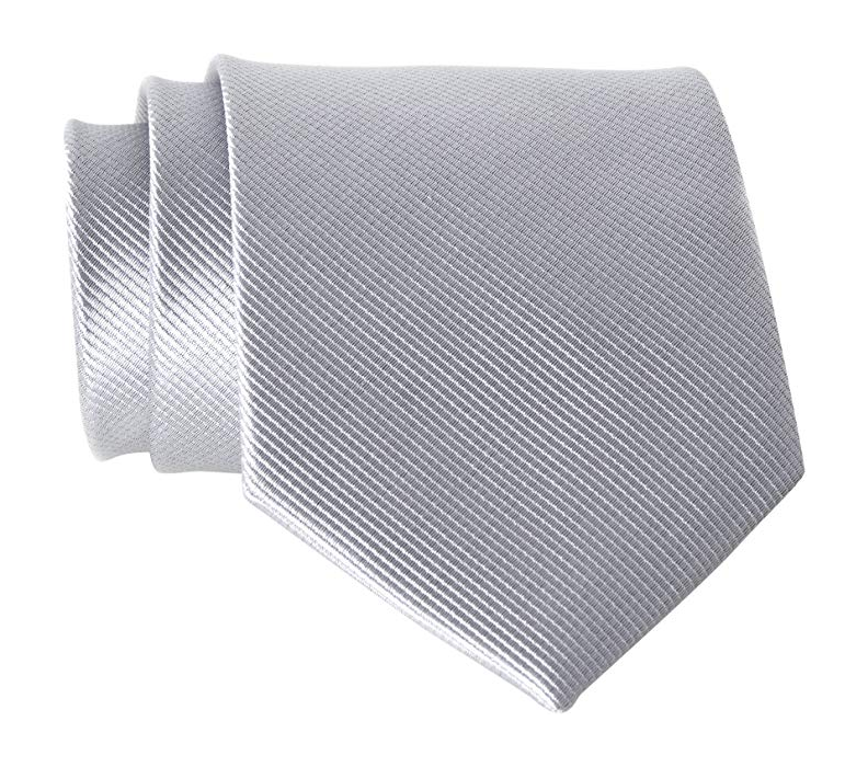 Solid grey tie by QBSM
