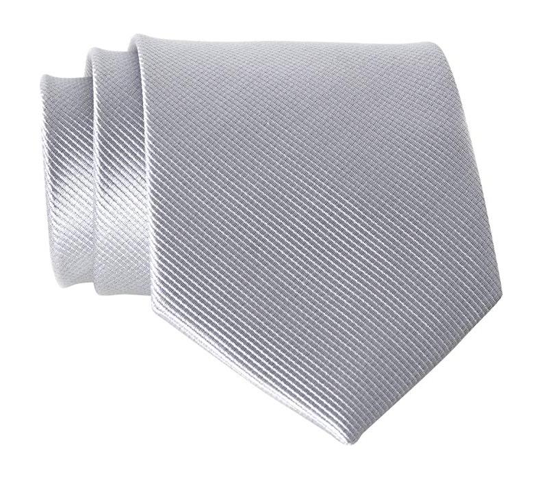 Solid grey tie by QBSM