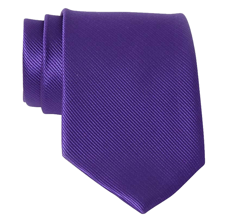 Solid purple tie by QBSM