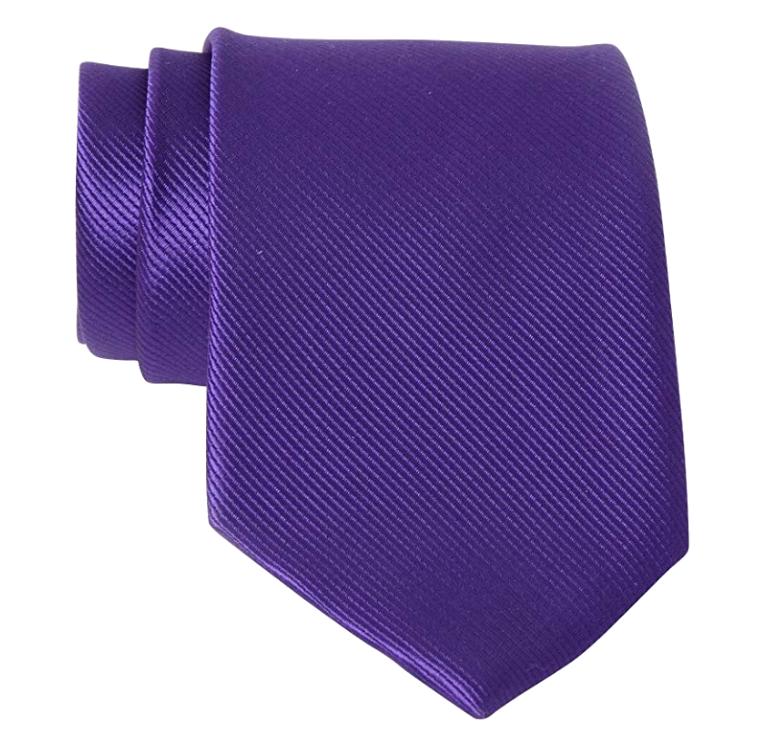 Solid purple tie by QBSM