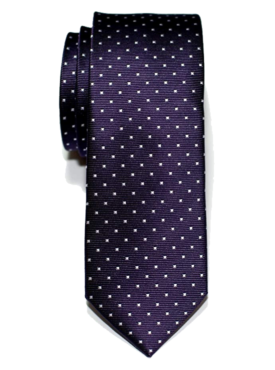 Dotted purple tie with white dots by Retreez