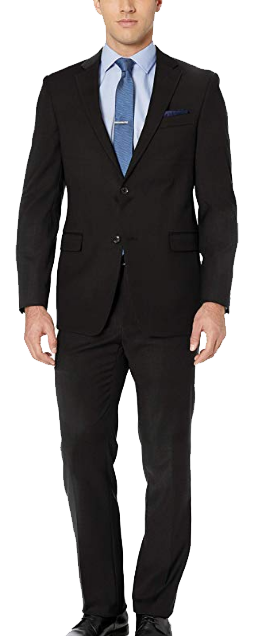 Modern-fit black suit by Tommy Hilfiger