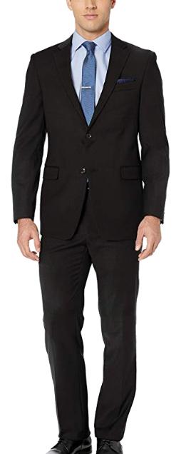 Modern-fit black suit by Tommy Hilfiger