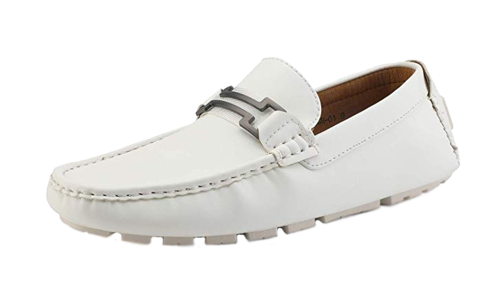 White loafers by Bruno Marc