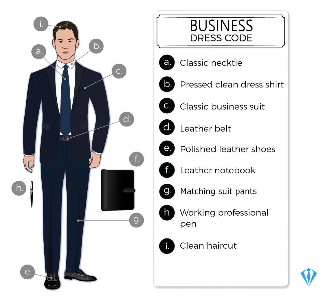 Business professional dress code attire