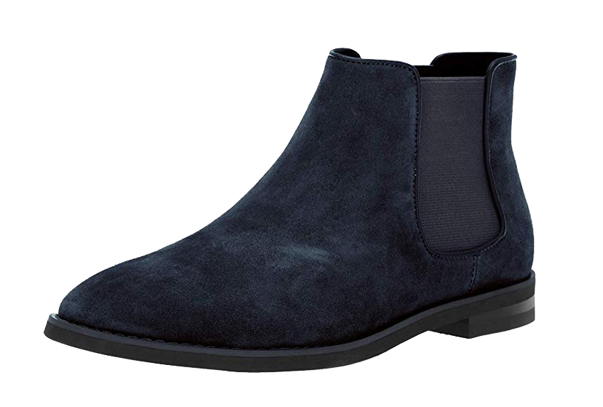 Navy leather chelsea boots by Calvin Klein Alixander