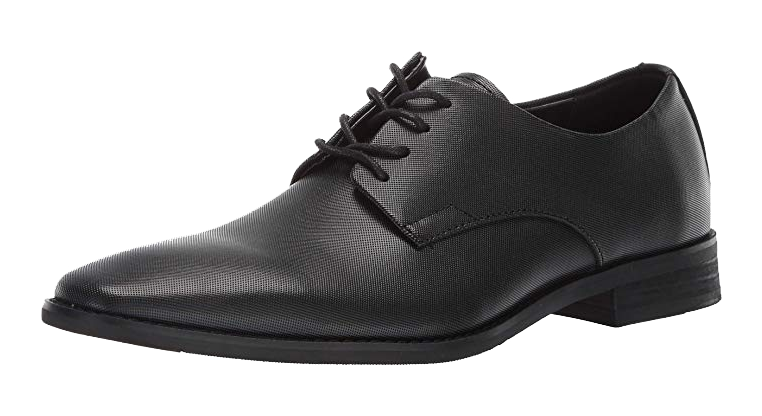 Black derby dress shoes by Calvin Klein
