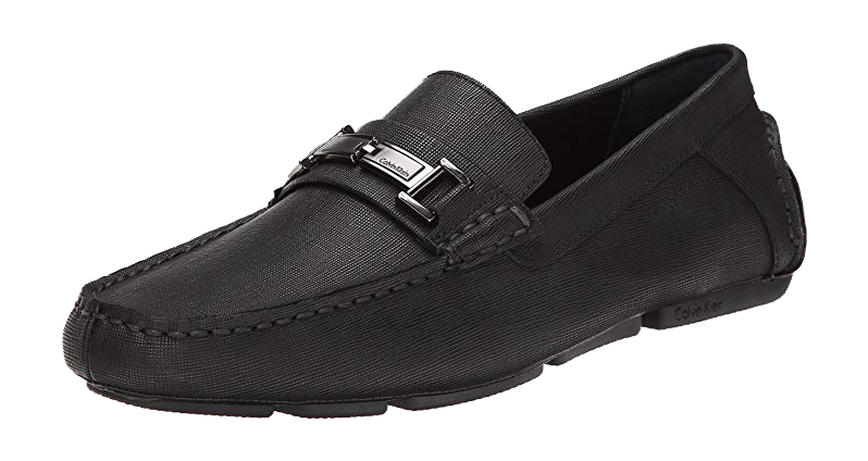 Black loafer Magnus slip-ons by Calvin Klein