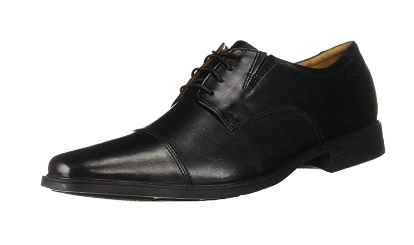 Black derby shoes by Clarks