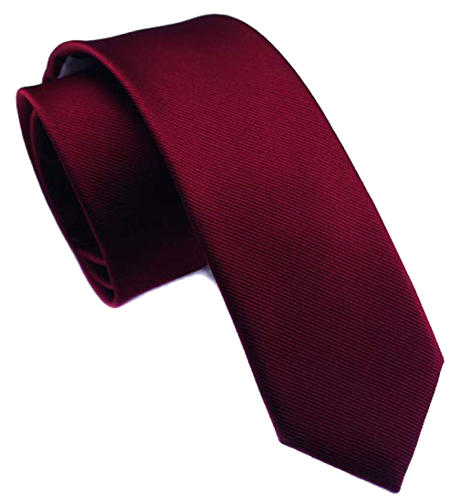 Solid dark red tie by Elviros