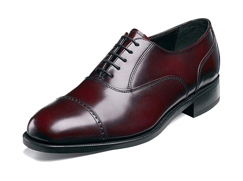 Burgundy cap toe Oxfords by Florsheim
